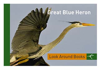 Great Blue Heron.  Tony King's Look Around Books.  3.75 x 2.5 inches.  48 pages.  $3.50 retail.